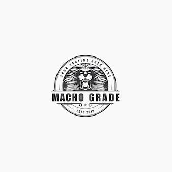 Logo rugissement de lion de luxe vintage
