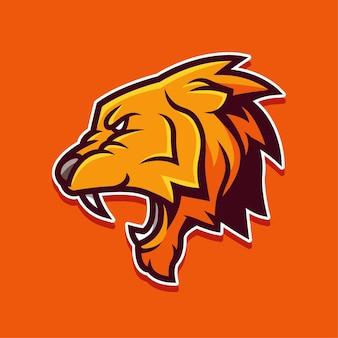 Logo de rugissement de lion