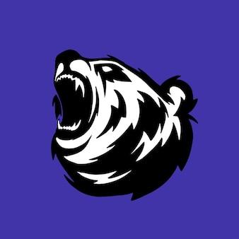 Logo de rugissement d'ours