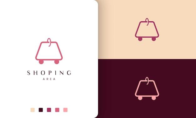 Logo de sac à provisions dans un style simple et minimaliste