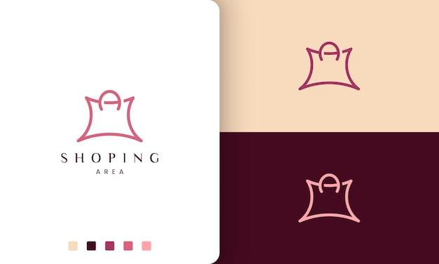 Logo de sac à provisions dans un style unique et moderne