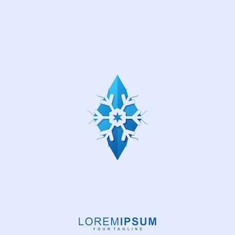 Logo de la saison d'hiver génial