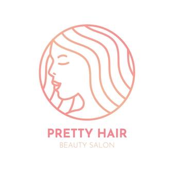 Logo de salon de coiffure dégradé