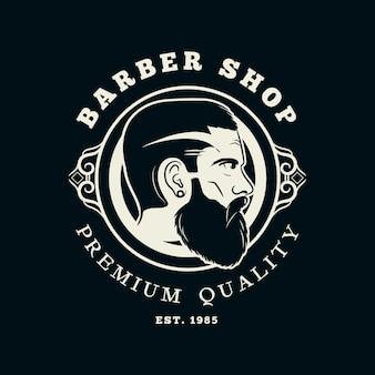 Logo de salon de coiffure vintage