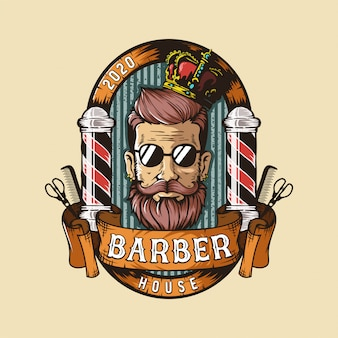 Logo de salon de coiffure