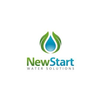 Logo de la santé de l'eau de minimalisme propre