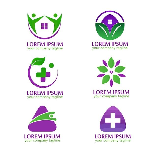Logo santé moderne nature