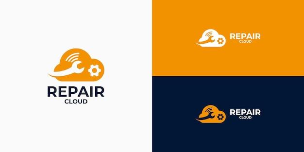 Logo de sécurité cloud, logo de service cloud