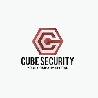 Logo De Sécurité Cube Vecteur Premium