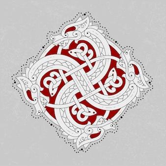 Logo de serpent scandinave effrayant