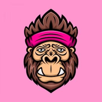 Logo serre-tête gorilla