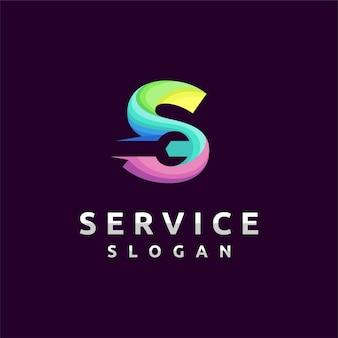 Logo de service avec le concept de la lettre s