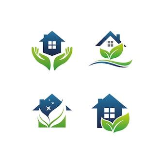 Logo de service de nettoyage de maison