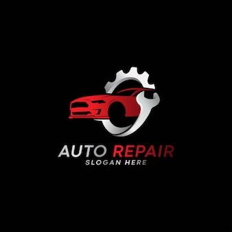 Logo de service de réparation automobile