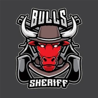 Logo de shérif de taureaux