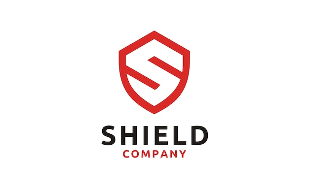 Logo shield / secure / safe avec initial s