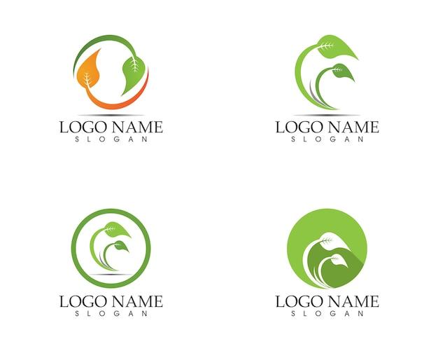 Logo de signe de feuille de nature