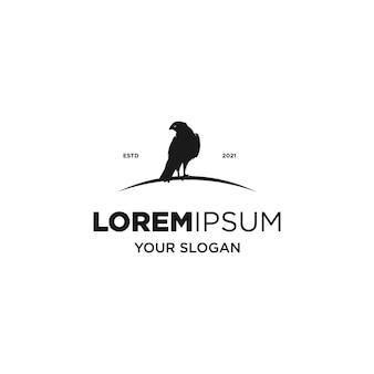 Logo silhouette aigle noir