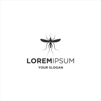 Logo de silhouette animale moustique