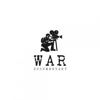 Logo de silhouette documentaire de guerre