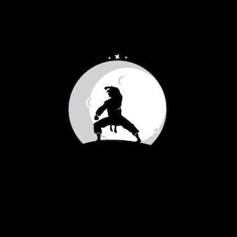 Logo de silhouette martial art master