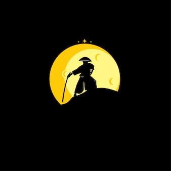 Logo de silhouette de samouraï