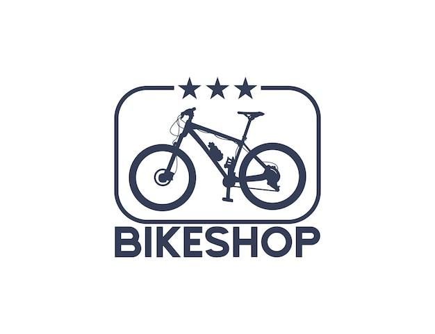 Logo de silhouette de vélo de magasin de vélo