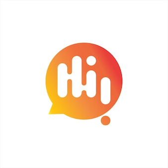 Logo simple de communication de conversation de bulle de salutation