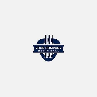 Logo simple de guitare insigne