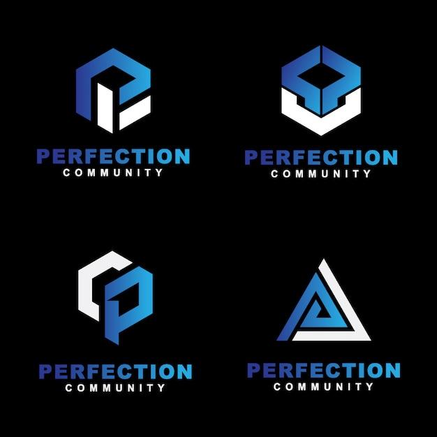 Logo simple initial