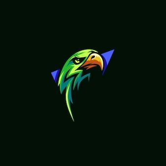 Logo simple premium eagle