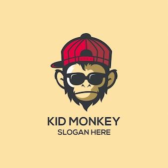 Logo de singe enfant