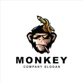 Logo de singe geek