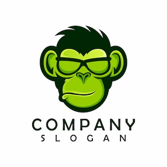 Logo de singe, illustration, mascotte