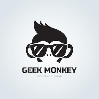 Logo de singe, modèle de logo chimp.