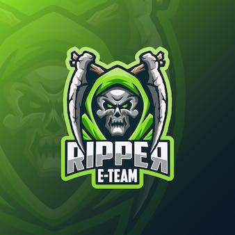 Logo skull ripper e sport
