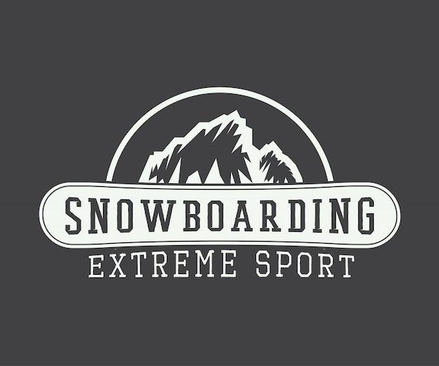 Logo de snowboard