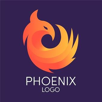Logo de la société d'oiseaux phoenix minimaliste