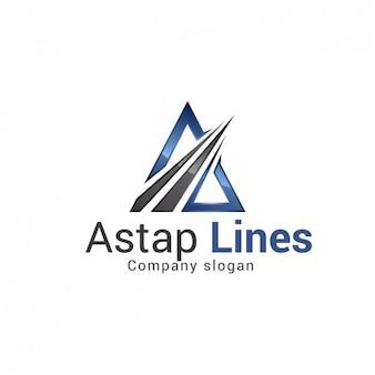 Logo société triangulaire template