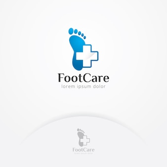 Logo de soin des pieds