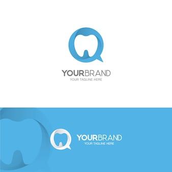 Logo de soins dentaires et de soins dentaires