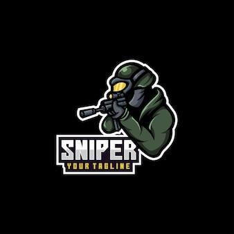 Logo de soldat de tireurs d'élite