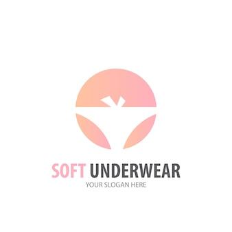 Logo de sous-vêtements pour entreprise. conception d'idée de logotype de sous-vêtements simples. concept d'identité d'entreprise. icône de sous-vêtements créatifs de la collection d'accessoires.