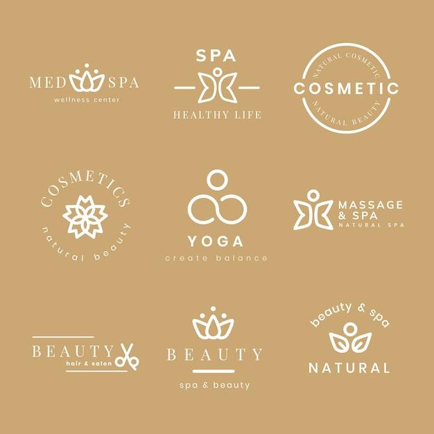 Logo de spa de beauté, ensemble de vecteurs de conception moderne créative