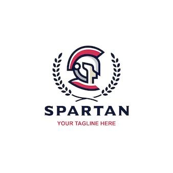 Logo spartan face face crest