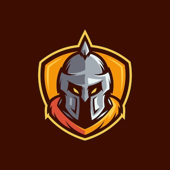 Logo spartiate vecteur