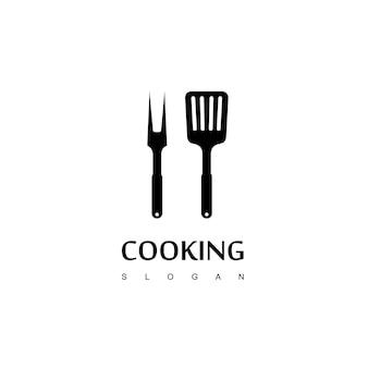 Logo de la spatule, conception de l'icône de la spatule
