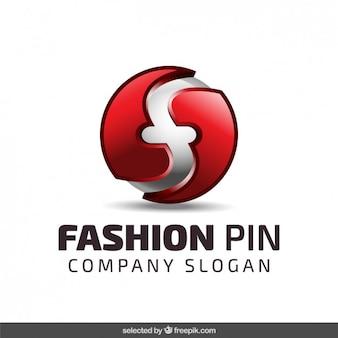 Logo sphérique couleur rouge