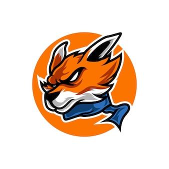 Logo sport d'automne tête de renard
