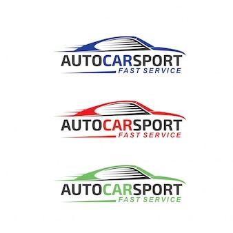 Logo de sport automobile